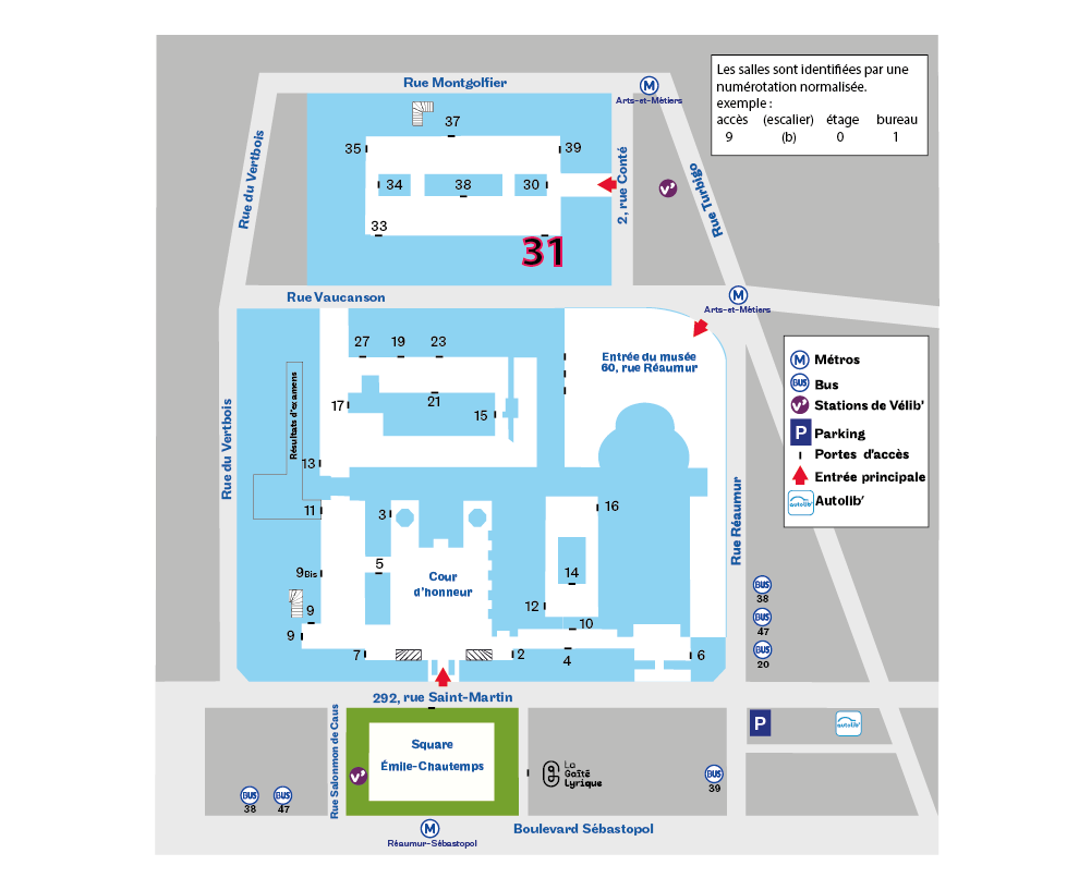 Plan d'accès à l'accès 31